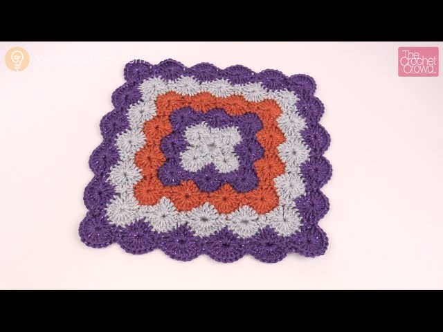 How to Crochet an Afghan: Catherine Wheel Stitch