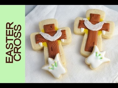 HOW TO DECORATE EASTER CROSS COOKIES WITH ROYAL ICING