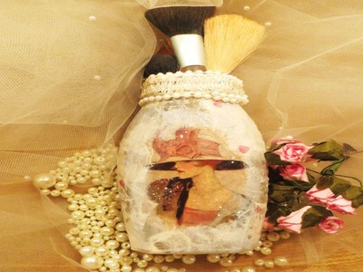 How to Decoupage a Jar Downton Abbey Inspired Glass Jar upcycle