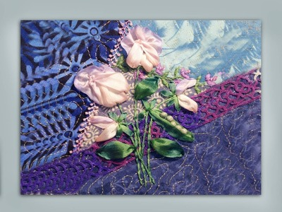 How to embroider a sweet pea with pea pod flower bunch