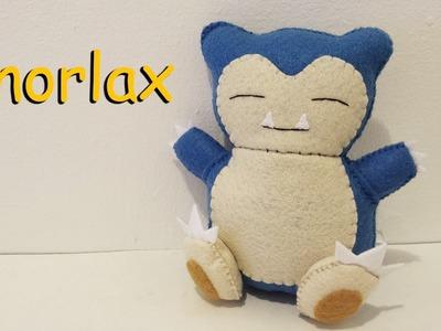 How to Make a Snorlax Pokemon Plushie Tutorial