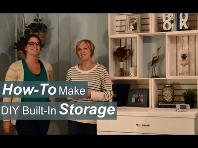 How-To Make DIY Built-Ins - Extra Storage for Your Apartment!