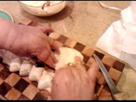 How to make pastizzis - Part 4 - Preparing the pastizzi for baking