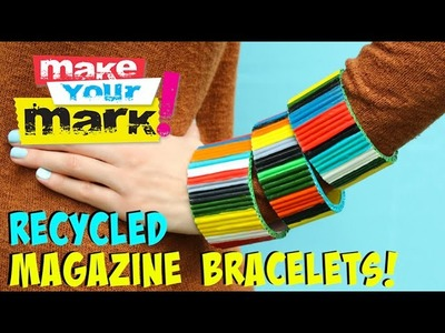 How to: Recycled Magazine Bracelets DIY