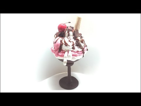 Ice cream box.Caixa Gelado- Polymer clay(Fimo) tutorial
