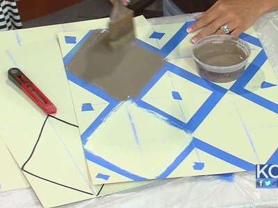 KCL - How to create a harlequin pattern on walls or furniture
