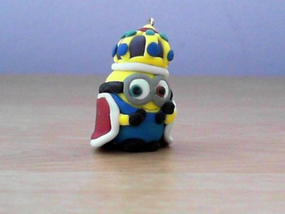 Let's make cute King Bob minion keychain with polymer clay!