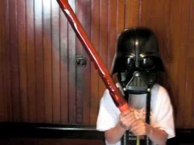 Make your own Light Saber that Glows in the Dark!