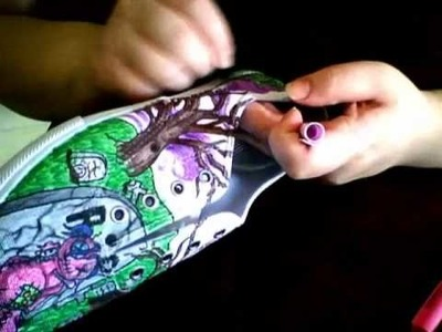 Me drawing on shoes 1