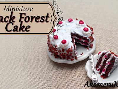 Miniature Black Forest Cake - Polymer Clay Tutorial