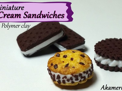 Miniature Ice Cream Sandwiches - Polymer Clay Tutorial