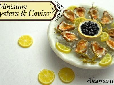 Miniature Oysters & Caviar - Polymer clay tutorial