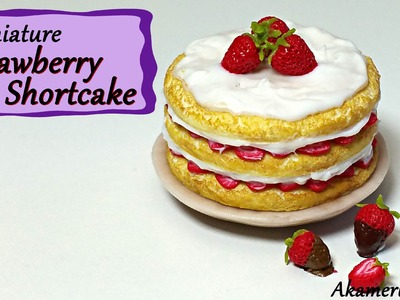 Miniature Strawberry Shortcake - Polymer Clay Tutorial