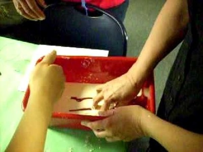 """Oobleck"" how to make wet.dry glop"