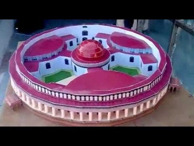 Paper model of parliament house.flv