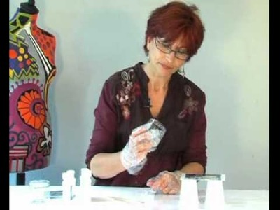 Pebeo - Gedeo Glazing Resin : How to Create a Glaze on a Postcard?