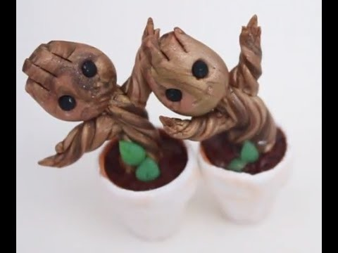Polymer Clay Groot in a Pot (Guardians of the Galaxy)