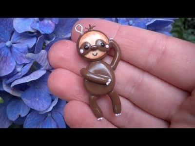 Polymer Clay: Sloth Charm Tutorial