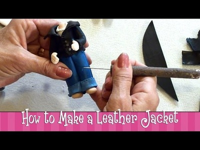 Polymer Clay Tutorial - How to Make a Leather Jacket