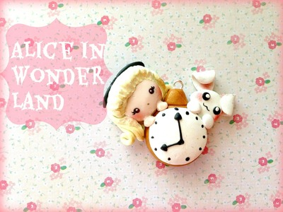 Alice in WonderLand Charm ~ Polymer clay tutorial and collab with Blueraspberrycharms
