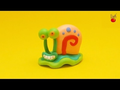 Gary the Snail - Gacuś - collab with The Icing Artist - polymer clay tutorial by Ewa