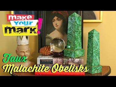 How to: Faux Malachite Obelisks