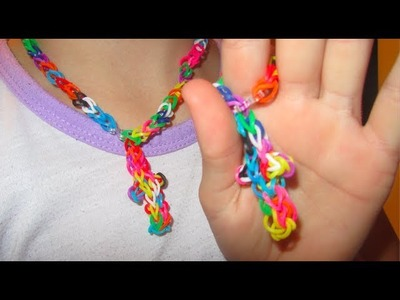 How To Make A Cross Necklace | Rainbow Loom