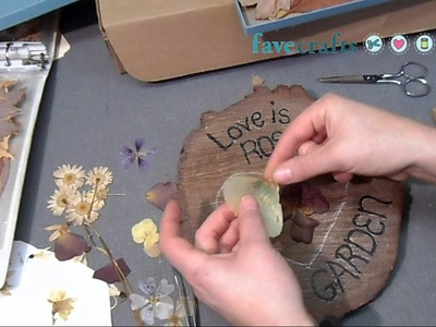 How to Make a Decoupaged Pressed Flower Heart