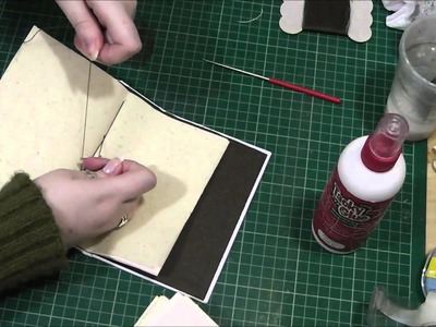 How to make a Journal - 4 Hole Pamphlet Stitch Bookbinding Tutorial