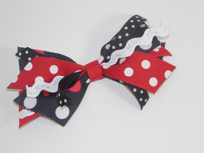 How To Make Ribbon Spikes Hair Bow Part 2