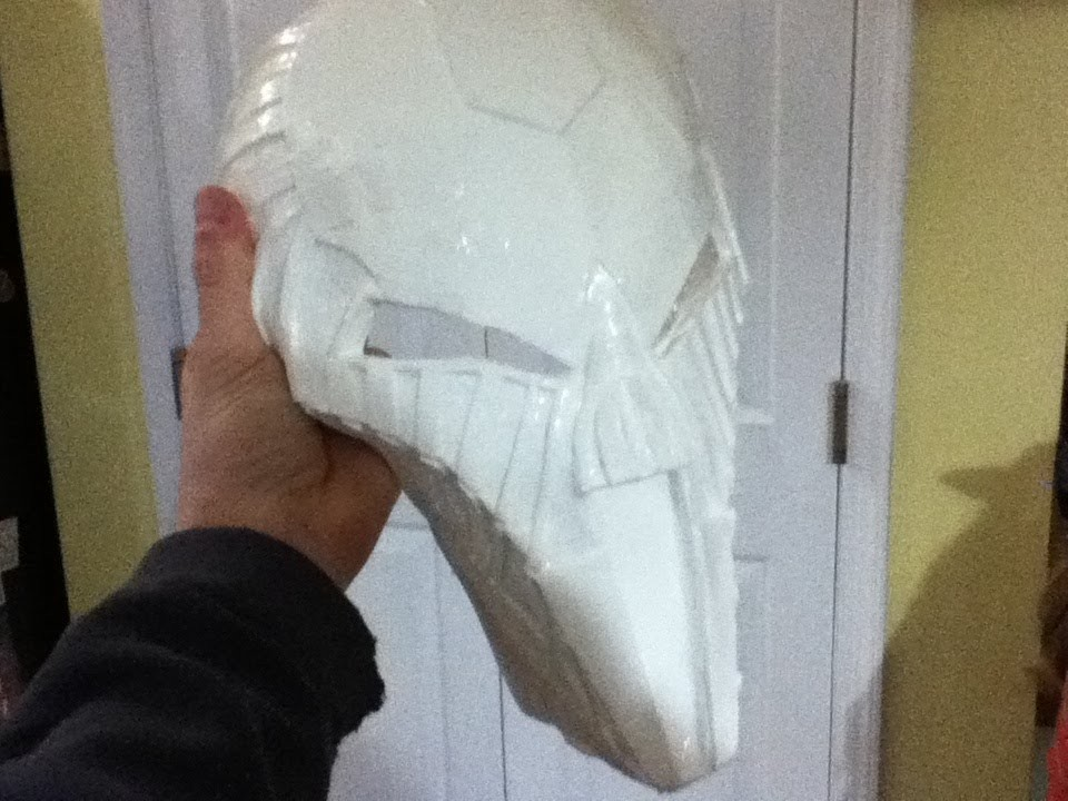 How to make your own Sith Acolyte mask part 2: Plastic mold