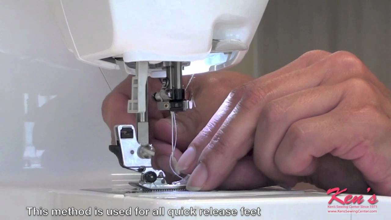 How to use the Brother SA135 Overlock Foot