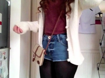 OOTD - Denim shorts and chunky cardigans