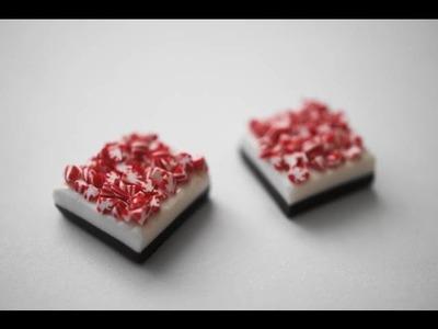 Peppermint Bark Tutorial, Polymer Clay Miniature Food Charm