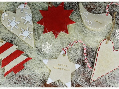 Salt dough recipe & Christmas Cookie Ornaments TUTORIAL (no polymer clay)