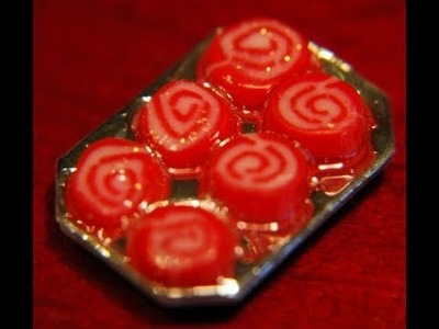 Swirl Christmas Cookies in Polymer Clay by Garden of Imagination (miniature)