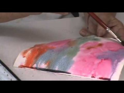 Watercolor Demo: How to Use Plastic Wrap with Watercolors - Part 9