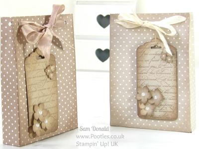 Aged Paper Bag Tutorial using Stampin' Up Designer Series Paper
