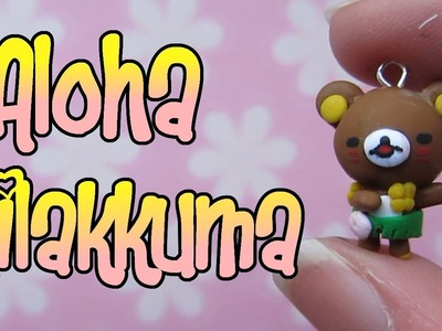 Aloha.Hawaiian Rilakkuma Tutorial: Grass Skirt & Garland: Polymer Clay Charm.