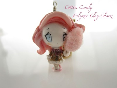 Cotton Candy Polymer Clay Chibi