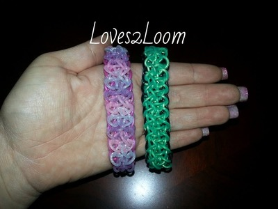 """Double Ziagonal"" Rainbow Loom Bracelet.How to Tutorial"