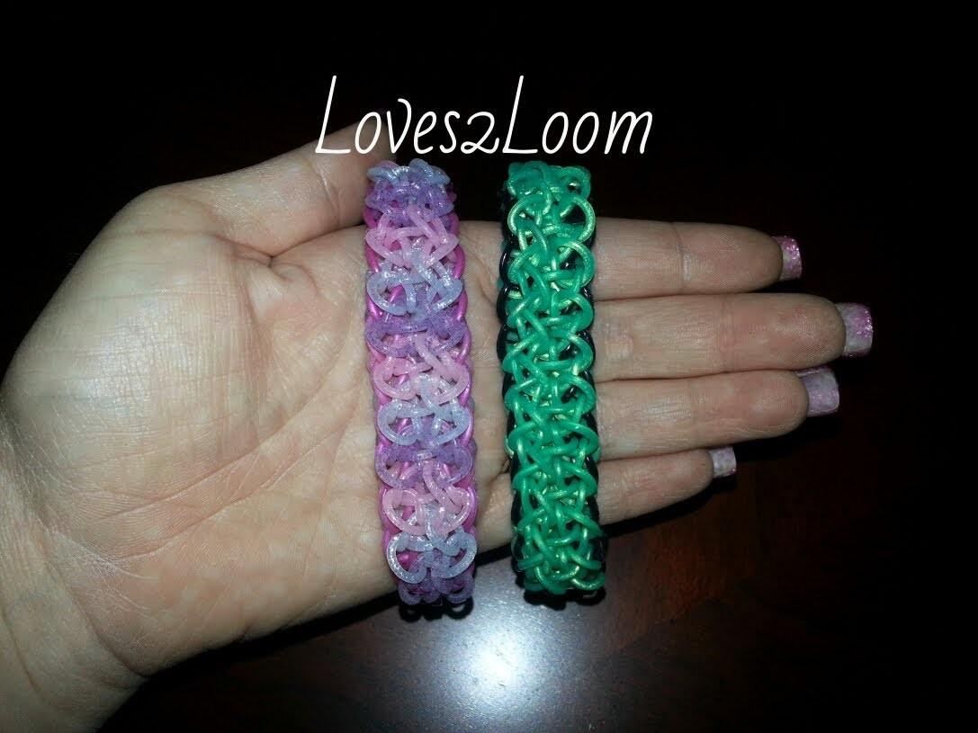 """Double Ziagonal"" Rainbow Loom Bracelet.How to Tutorial"