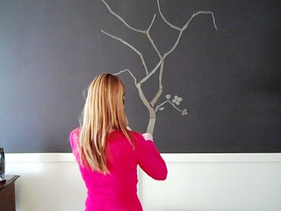 Dramatic accent wall with faux paneling - Christina Bell on a Budget