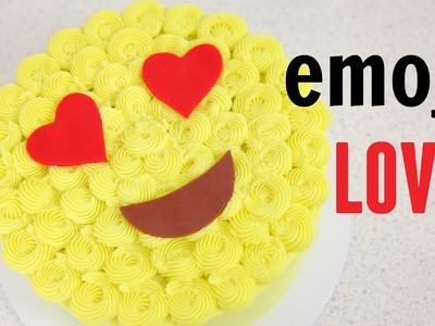 Emoji Love Buttercream Cake - CAKE STYLE