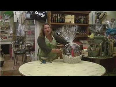 Gift Baskets : How to Wrap a Bow