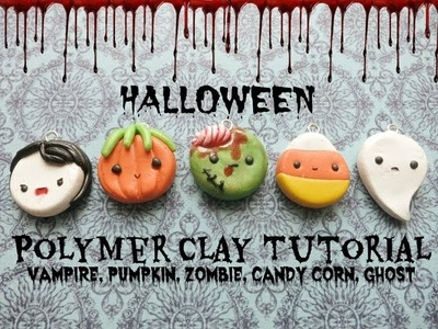 Halloween Charms | Polymer Clay Tutorial ≧◡≦