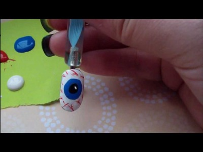 Halloween Nail Design # 1- EyeBall Nails
