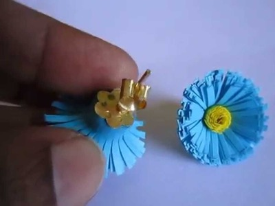 Handmade Jewelry - Paper Quilling Fringed Earrings 1