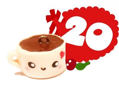 ❤ Hot Chocolate! Kawaii Christmas 20 -Polymer Clay tutorial