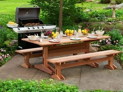 How to Build a Picnic Table and Benches - This Old House